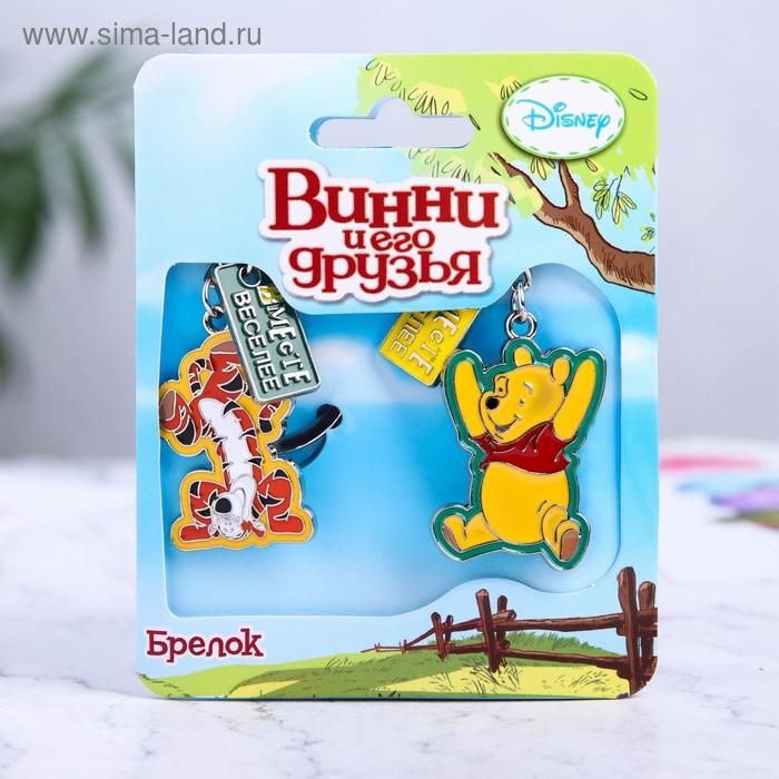 """Брелоки парные """"Вместе веселее"""", Медвежонок Винни и его друзья"""