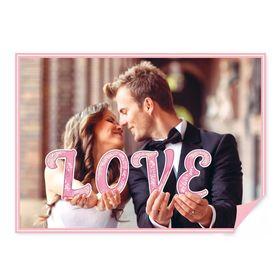 """Буквы для фото """"LOVE"""" (цвет розовый)"""