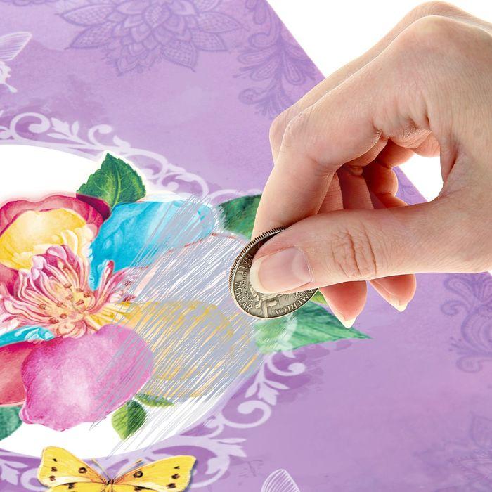Волшебная открытка цветы