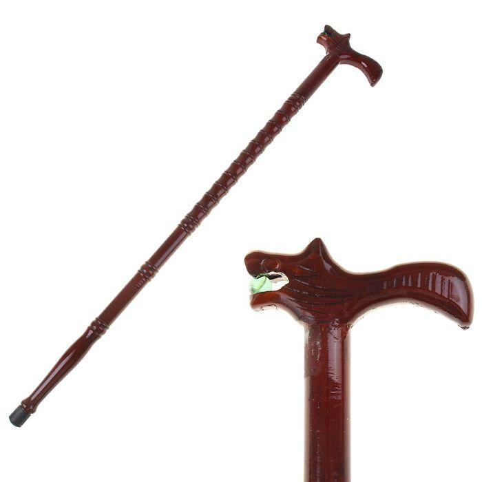 Трость деревянная, бамбук, рукоять — фигура дракона, 90 см