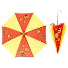 """Зонт детский механический """"Хорошего настроения"""", r=26см, цвет красный/жёлтый"""