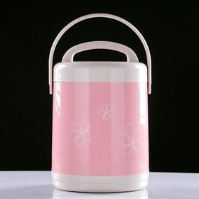 """Термос для еды """"Китти"""", 1.7 л, сохраняет тепло 3-5 часов, 2 контейнера, микс, 15х23 см - фото 1966077"""