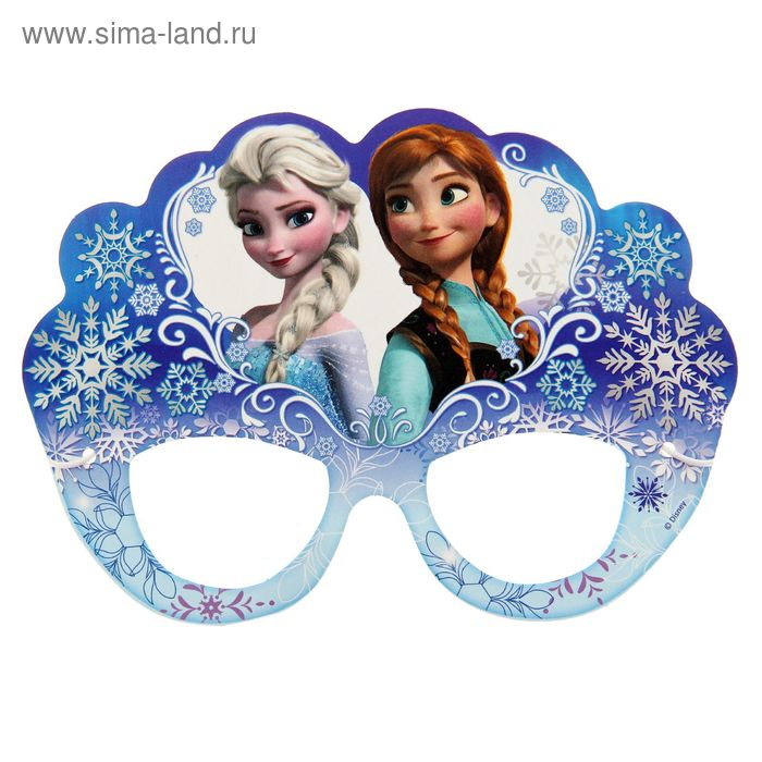 """Очки карнавальные """"Анна и Эльза"""", Холодное сердце"""