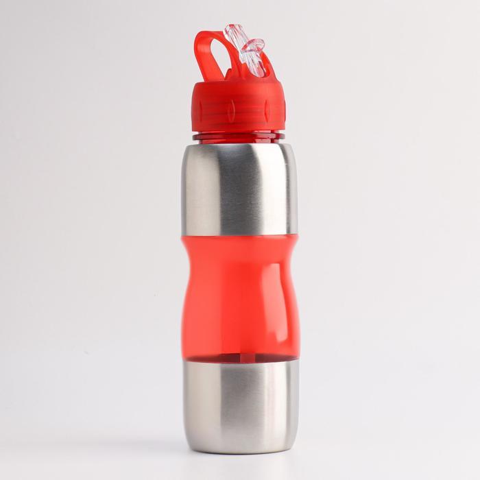 """Бутылка для воды """"Альби"""" 650 мл велосипедная, микс, 7х26 см"""