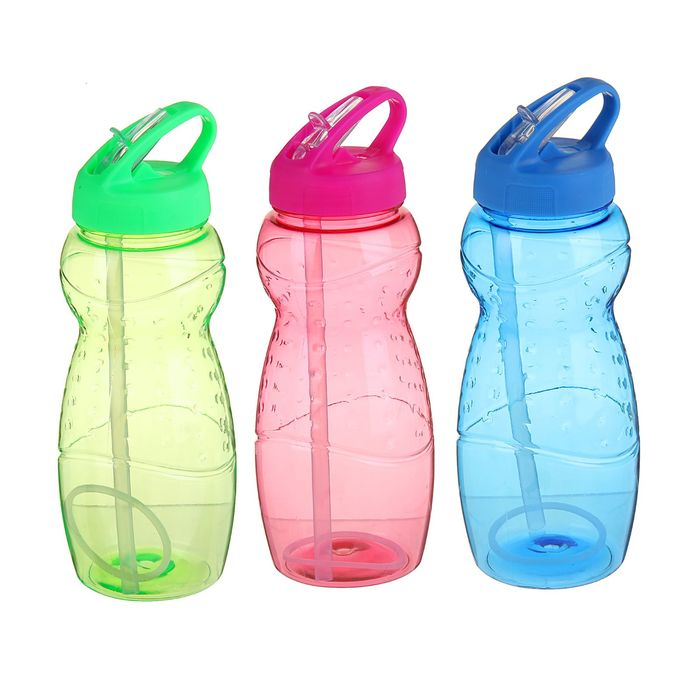 Фляжка-бутылка велосипедная, 600 мл, микс