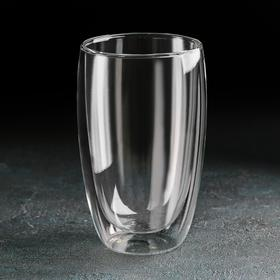 "A 450 ml glass of ""Highball"" glass with double walls"