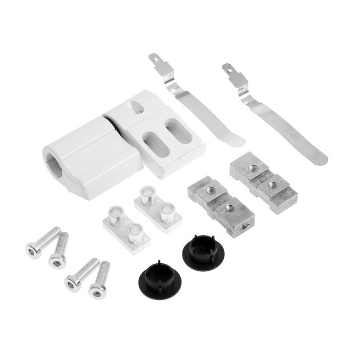 Петля для алюминиевой двери, до 120 кг, двухсекционная, белая