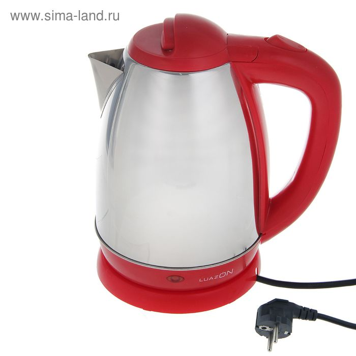 "Электрочайник ""LuazON"" LSK-1807, 1500W, 1,8л, металл- красный"