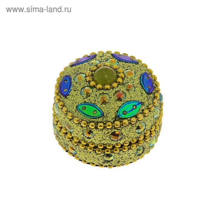 "Шкатулка круг ""Зелень"""