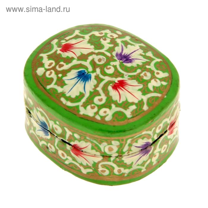 "Шкатулка ""Зелень"" папье-маше"