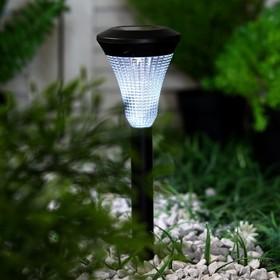 """Фонарь садовый на солнечной батарее """"Конус"""" 31,5 см, d-7 см, 1 led, пластик"""