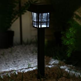 """Фонарь садовый на солнечной батарее """"Фонарик"""" 32 см, 7*7 см, 1 led, пластик"""
