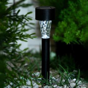 """Фонарь садовый на солнечной батарее """"Трапеция"""" 30 см, d-4,5 см, 1 led, пластик, шоубокс"""