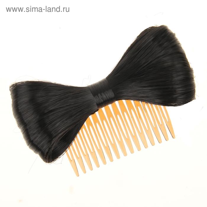 """Гребень для волос """"Бантик"""" чёрный"""
