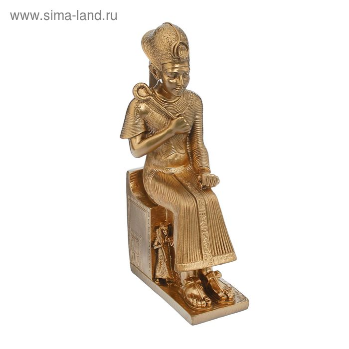 "Статуэтка ""Фараон с жезлом"" золото"