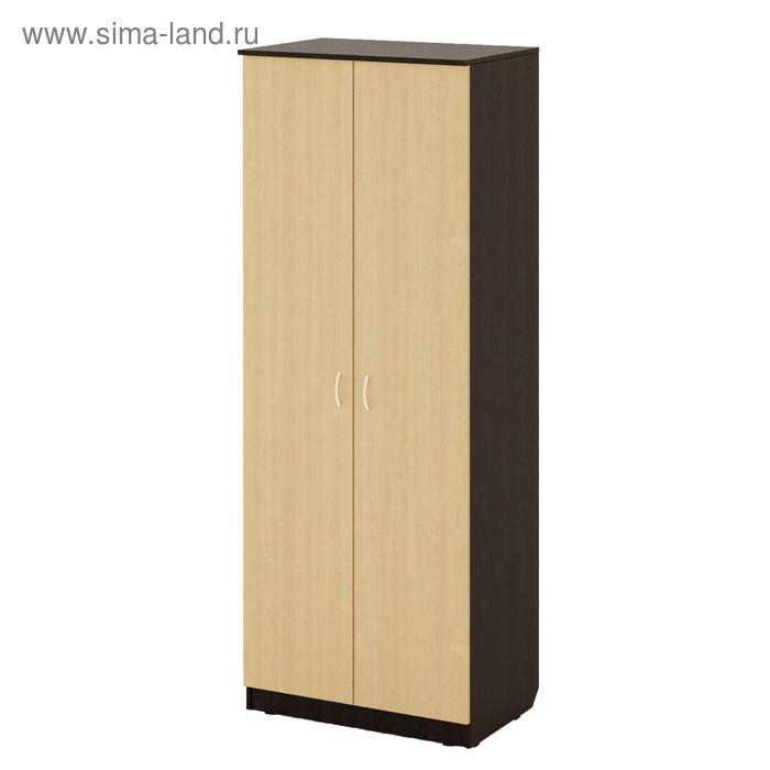 Шкаф распашной 2х створчатый №2 800х500х2100, венге/белёный дуб