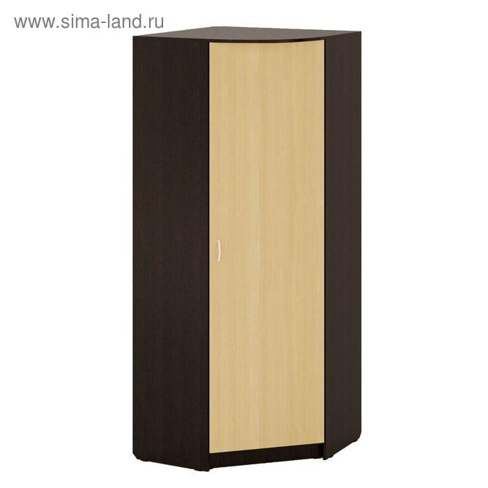 Шкаф Угловой 900х900х2200 мм, венге/белёный дуб