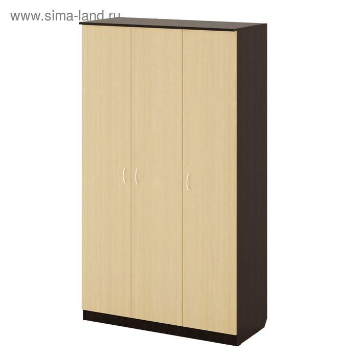 Шкаф распашной 3х створчатый 1210х500х2100 мм, венге/белёный дуб