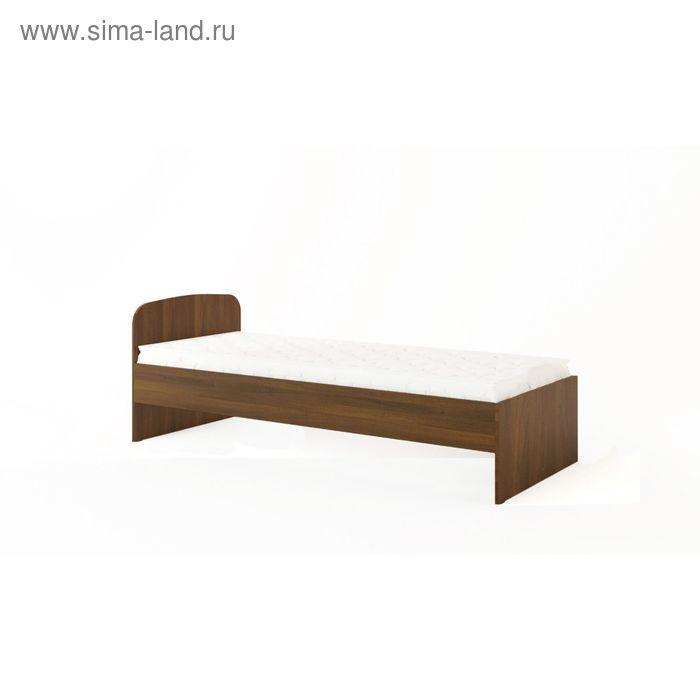Кровать 800, 2032х838х700 мм, орех тёмный