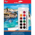 """Шаблон для раскрашивания акварелью """"Морской пейзаж"""" Creative line + акварель 12 цветов с кистью"""