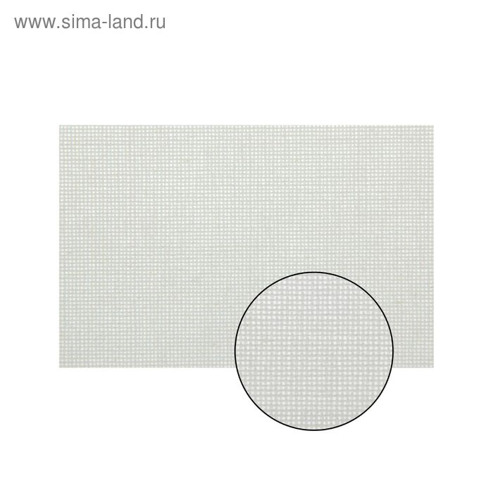 Канва для вышивания, Linda, 50х50см, цвет белый