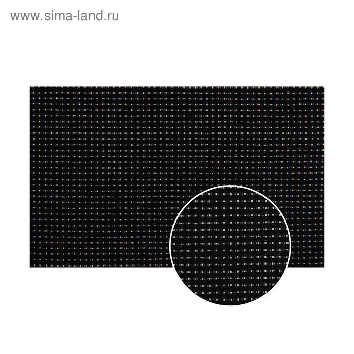 Канва для вышивания, Aida №14, 50х50см, цвет чёрный