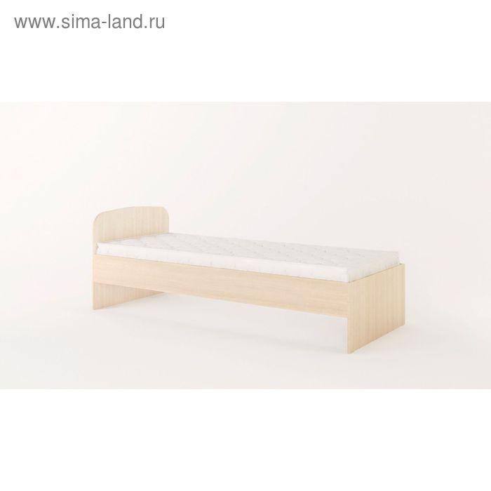 Кровать 800, 2032х838х700 мм, белёный дуб