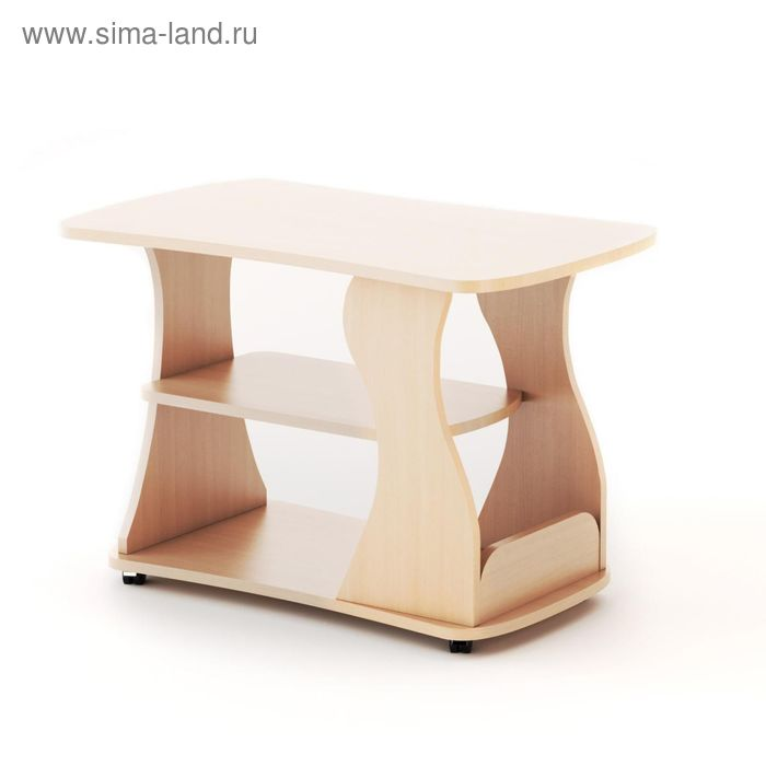 Стол журнальный 750х490х550 мм, белёный дуб