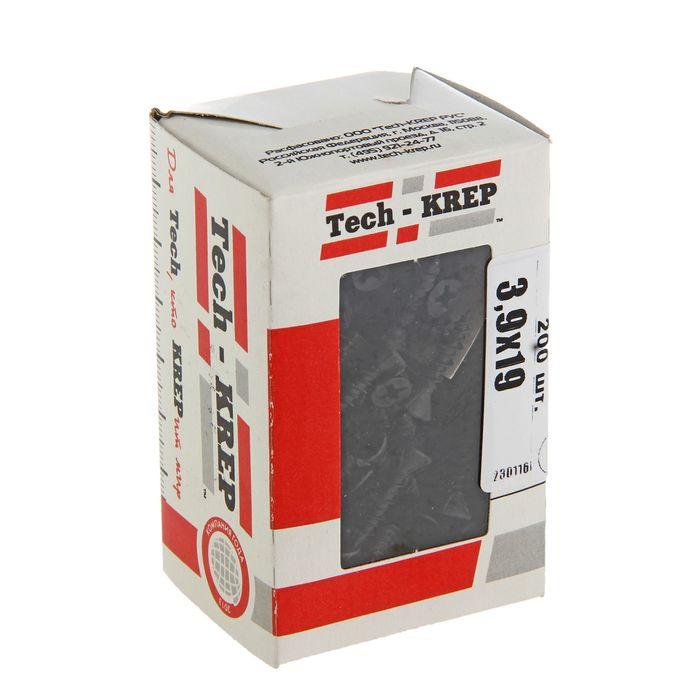 Саморезы по ГВЛ TECH-KREP, ШС, 3.9х19 мм, 200 шт.