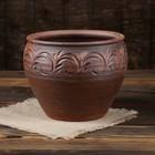 Горшок для цветов 3 л, красная глина