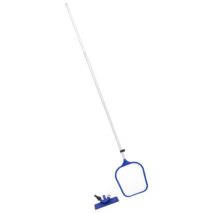 Набор для чистки бассейна, сачок, щётка, ручка 167 см, 58013 Bestway