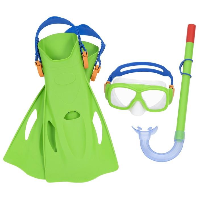 Набор для плавания SureSwim, 3 предмета: маска, ласты, трубка, 7-14 лет, цвет МИКС, 25019 Bestway