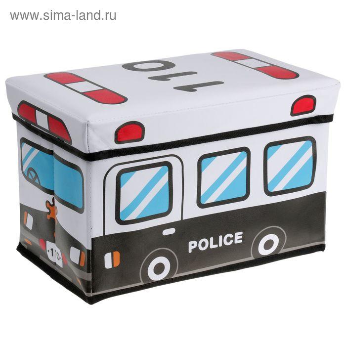 """Короб для хранения 40х25х25 см """"Полиция"""""""