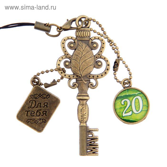 """Ключ сувенирный """"20 Марта"""", серия 365 дней"""