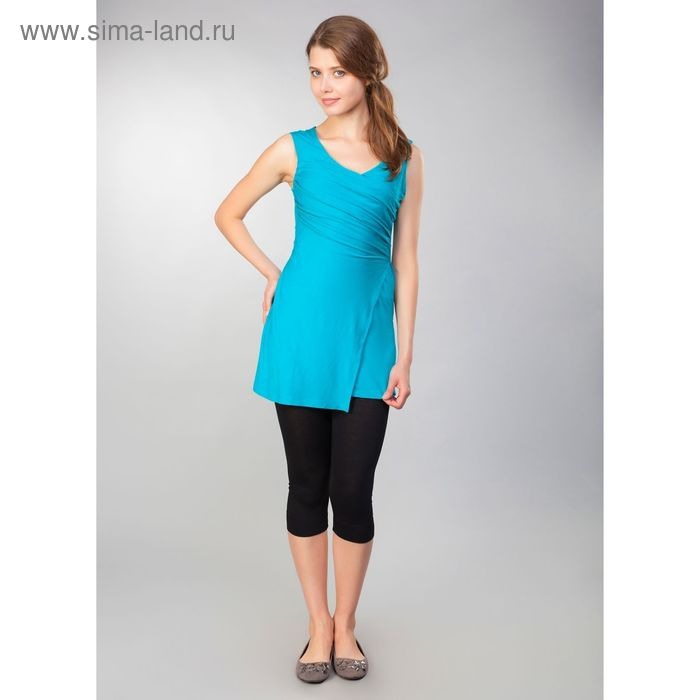 Туника женская, рост 158-164 см, размер 44, цвет бирюзовый (арт. MV19090)