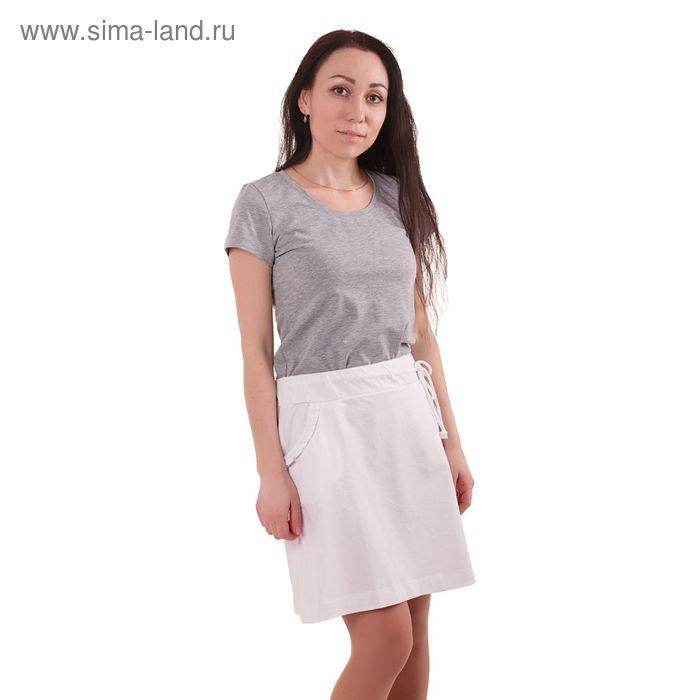 Юбка женская MK19033 белый, рост 158-164 см, р-р 44