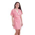 """Халат женский запашной """"Ностальжи"""" MH242347/01 розовый, рост 158-164 см, размер 50"""