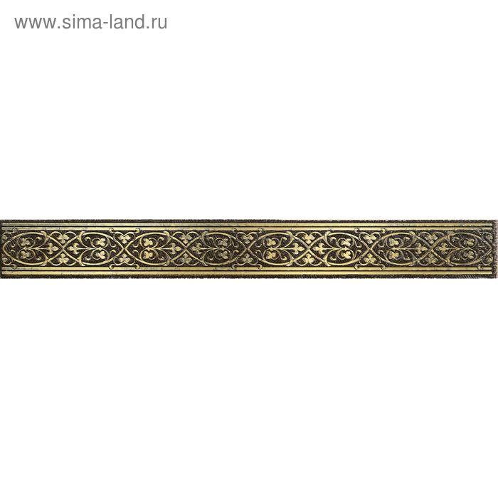"Бордюр керамический ""Катар"", коричневая, 28х250 мм"