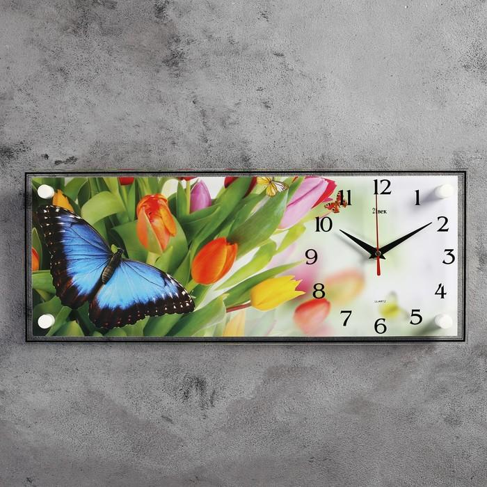"""Часы настенные, серия: Цветы, """"Бабочки"""", 50х20  см, микс"""