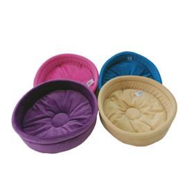 Лежанка круглая 'Плюшка', 33 х 33 х 10 см, микс цветов Ош