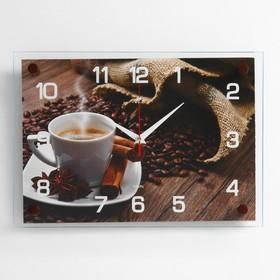 """Часы настенные, серия: Кухня, """"Кофейная фантазия"""", 25х35  см, микс"""