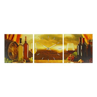 Часы настенные модульные «Вино. Закат», 33 × 33 см