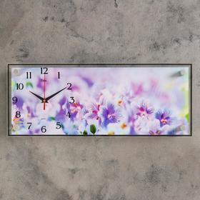 """Часы настенные, серия: Цветы, """"Полевые цветы"""", 50х20 см"""