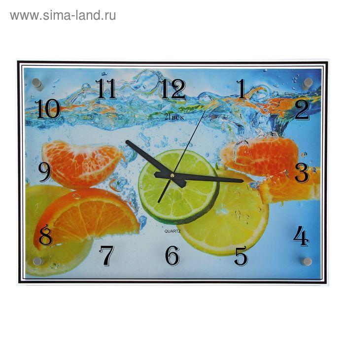 """Часы настенные прямоугольные """"Фруктовый микс"""", 40х56 см"""