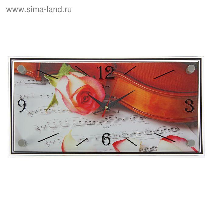 "Часы настенные прямоугольные ""Роза"", 19х39 см"