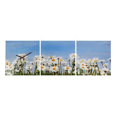 Часы настенные модульные «Ромашки», 33 × 33 см