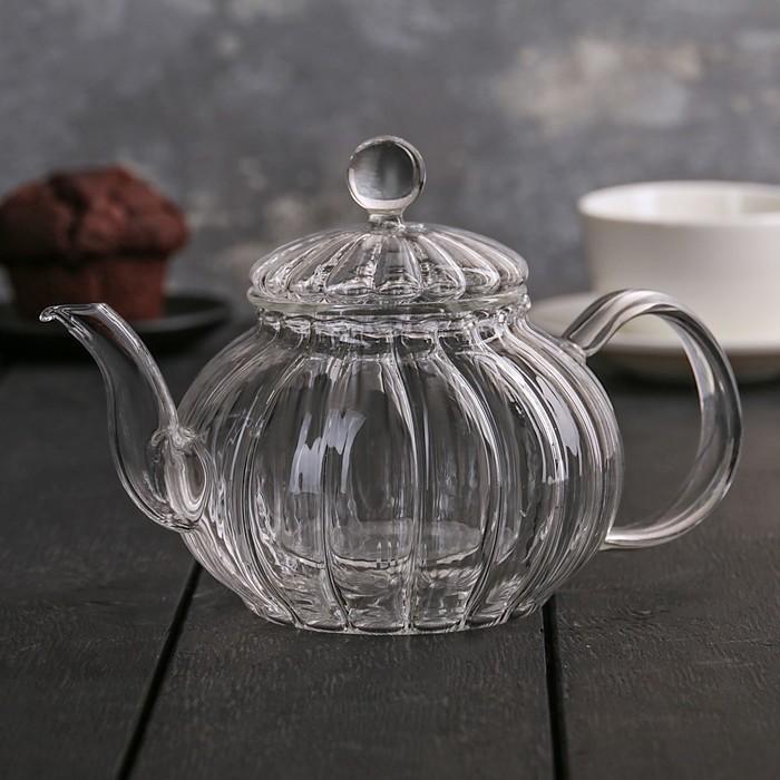 """Чайник заварочный 600 мл """"Диана"""", стеклянное сито"""