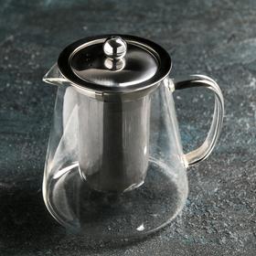 Чайник заварочный «Эгла», 750 мл, 15×11×16,5, металлическое сито