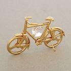 Сувенир «Велосипед», с кристаллом Сваровски