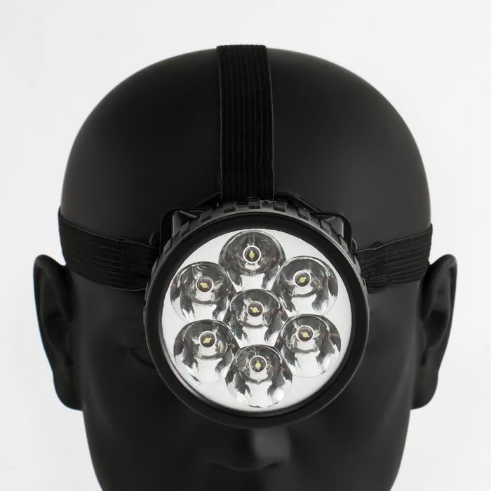"Фонарик налобный ""Ночь"", 7 LED, 1 режим, 3 АА, 7.5х6.3 см"